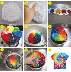 Learn how to make over tie dye techniques from hearts to ombre to spiral to spider, learn how to make your own custom t-shirt! Fête Tie Dye, Tie Dye Party, How To Tie Dye, Tye Dye, Tie Die Shirts, Diy Tie Dye Shirts, Diy Shirt, Tie Dye Folding Techniques, Tie Dye Crafts