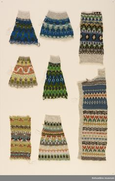 Mönster ritade av Anna-Lisa Mannheimer Lunn, Göteborg. Prover från Bohusstickning, ett av 8 st. Mitten Gloves, Mittens, Best Baby Shower Gifts, Fair Isle Pattern, Sweater Knitting Patterns, Chunky Yarn, Makeup Trends, Vintage Colors, Free Pattern
