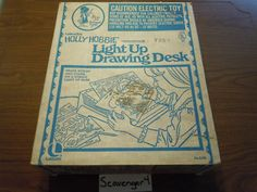 Holly Hobbie light up drawing desk, to trace and create your own scenes.