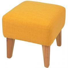 Pouf design en toile jaune Brando (L.35xP.35xH.35cm)
