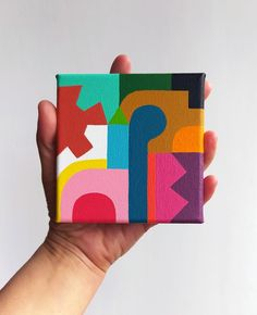 Small Canvas Art, Simple Canvas Paintings, Mini Canvas Art, Abstract Painting Canvas, Acrylic Paintings, Acrylic Art, Illustration Design Graphique, Illustration Art, Mini Toile