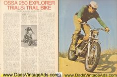 1974 Ossa 250 Explorer Trials / Trail Bike Road Test / Specs