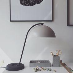 Cloche lamp, Hay.  Smaragd print, Lisa Leierth.   www.kvartinterior.se