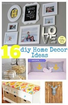 Fabulous list of DIY home decor ideas! Ranging from big to small that can easily be tackled and make a quick difference!