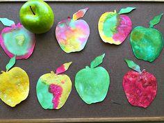 Fall Activities for Kids : Fizzing Apple Art