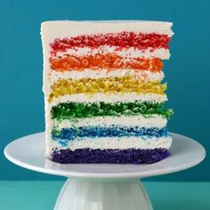 Rainbow Cake for St. Patrick's Day- vegetable shortening 3 cups all-purpose flour 4 teaspoons baking powder 1/2 teaspoon salt 2 sticks (1 cup) unsalted butter, room temperature 2 1/3 cups sugar 5 large egg whites, room temperature 2 teaspoons pure vanilla
