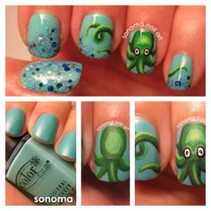 Love these nails!!!! From Sonoma Nail Art