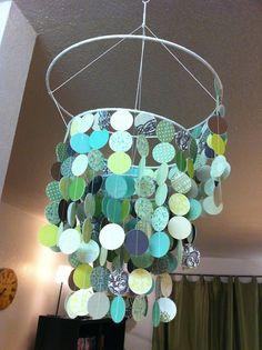 DIY paper chandelier steps Locker Stuff, Diy Locker, Cute Locker Ideas, Capiz Chandelier, Barbie Bedroom, Reiki Room, Locker Decorations, Stationery Shop, Apt Ideas