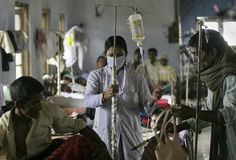 Patients are treated at a government tuberculosis hospital in Gauhati, India. Public health officials in the country are grappling with a strain of TB that does not respond to medication. (Anupam Nath / Associated Press)