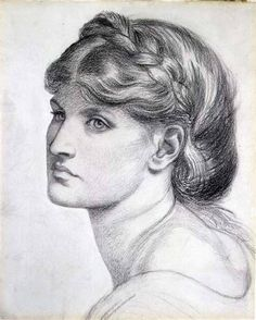 Dante Gabriel Rossetti - Portrait of Alexa Wilding, a study for 'The Bower Meadow'