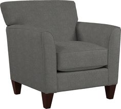 When style meets comfort, it's a beautiful thing. Case in point, Allegra. A streamlined look with subtle details, it's the perfect complement to today's relaxed lifestyle. Featuring classic design lines, with an inviting box seat and tapered wood legs and available in a wide selection of custom fabrics, with contrasting welt cushion trim optional.