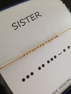 SISTERS Necklace Set of 2 Morse Code Personalized Gold Filled Sterling Silver Necklace Be. SISTERS Necklace Set of 2 Morse Code Personalized Gold Filled Sterling Silver Necklace Beaded Boho Custom Message Jewelry, Sister Necklace, Sister Bracelet, Necklace Set, Sister Jewelry, Initial Necklace, Gold Necklace, Diy Jewelry, Jewelery, Jewelry Accessories