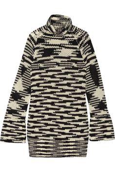 MISSONI Mini-Robe À Col Roulé En Mailles Crochetées De Laine Mélangée. #missoni #cloth #robes