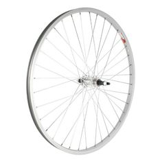 Sta-Tru Silver Alloy ATB 6-7 Speed Freewheel Hub Rear Wheel (26X1.5-Inch):   Replacement wheel assembled in the United States of America.