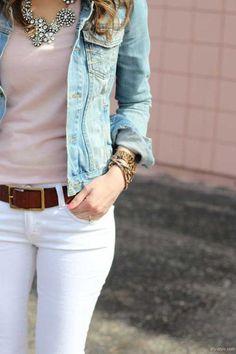 Beyaz Pantolon Kombini