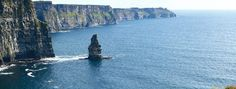 Cliffs of Moher, Ireland. Amazing view!  I went there, but it was so cloudy and foggy I couldn't see this view!
