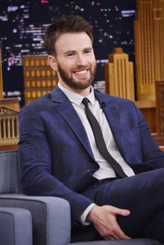 """Chris Evans Photos - Actor Chris Evans is interviewed by host Jimmy Fallon during his visit """"The Tonight Show Starring Jimmy Fallon"""" on May 03, 2016 in New York, New York. - Chris Evans Visits 'The Tonight Show Starring Jimmy Fallon'"""
