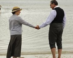 Mrs. Hughes and Mr. Carson in the finale of Downton Abbey, Season 4. So sweet!