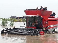 Love the ingenuity of our Alberta farmers; rescuing people with their combines.