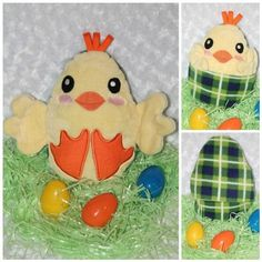 Peekaboo Chick In the Hoop Stuffed Softie - Reversible folds into an egg, ITH, IN The Hoop, Embroide Embroidery Files, Embroidery Applique, Machine Embroidery Designs, Embroidery Machines, Brother Embroidery Machine, Pokemon Funny, Softies, Sewing Projects, Crafts