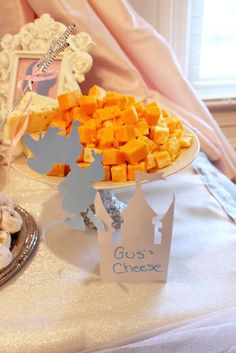 Gus' Cheese from a Princess Cinderella Birthday Party via Kara's Party Ideas | KarasPartyIdeas.com (25)