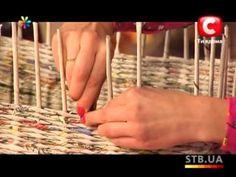 «Все буде добре» Выпуск 108 Плетем корзины из газет - YouTube http://www.pinterest.com/kikamayo/cester%C3%ADa-con-peri%C3%B3dicos/