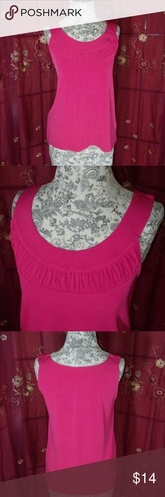 Rafaella Pink Blouse In great condition. True to size. Soft and stretchy. Flows. 92% Polyester 8% Spandex Tops Blouses