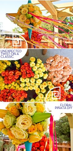 DIY Cinco De Mayo floral pinata - The Cuisinerd HGTV