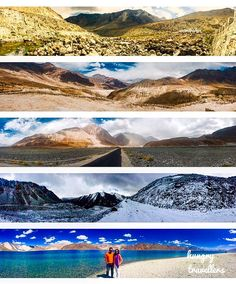 Varied landscapes of Leh, Ladakh, India.