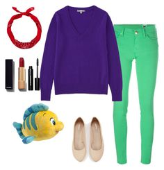 Ariel Disney Inspired by alexbetancourt on Polyvore featuring polyvore, fashion, style, Uniqlo, M Missoni, Express, Chanel, Bobbi Brown Cosmetics, Disney and clothing