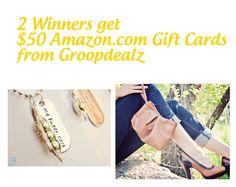 EASY! Win $50 amazon gift cards - 2 winners!