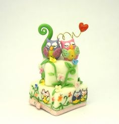Sweet Owl Cake Miniature