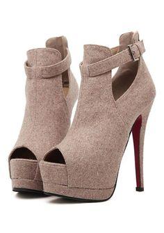 Women's club hollow out peep toe high heels-platforms online - vessos.com