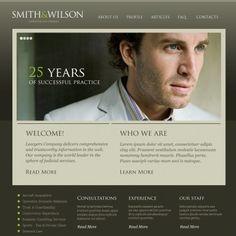 Lawyer. Reszponzív Weboldal Témá