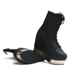 Back Off Shoe (Black) by Jeffrey Campbell