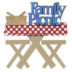 Family Picnic Laser Die Cut (€3,84) ❤ liked on Polyvore featuring backgrounds and picnic
