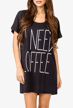 Morning Coffee Nightdress | FOREVER21 - 2021839397