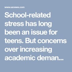 """What issues does this article -- and high-pressure high schools -- fail to deal with?  """"School-related stress has long been an issue for teens. But concerns over increasing academic demands and heightened social pressure have parents and educators looking for answers."""""""
