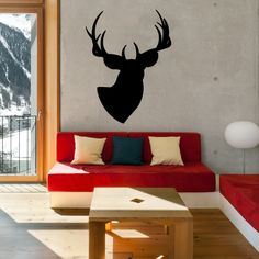 For the hipster in you here is a wall sticker of a deer.