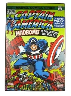 Silver Buffalo Marvel Comics Captain America Madbomb Wood Wall Art 19 x 13 * You can find more details by visiting the image link.Note:It is affiliate link to Amazon.