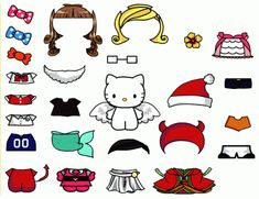 Cute Hello Kitty Paper Doll Template Free Download