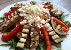 Quinoa salade met feta en gegrilde groenten