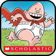 """The adventures of Captain Underpants cost by Scholastic. Players can dive into the world of the Captain in the Book-O-Rama, with the entire first epic novel """"The Adventures of Captain Underpants"""" b. Captain Underpants Games, Friends Of The Library, Traditional Books, Books For Teens, First Novel, Kids Education, Teaching Kids, The Book, Childrens Books"""