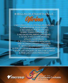 #TipsDeNegocios 8 reglas de etiqueta en la oficina