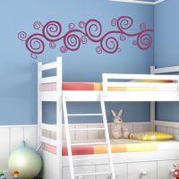Curly Swirls - Wall Decals