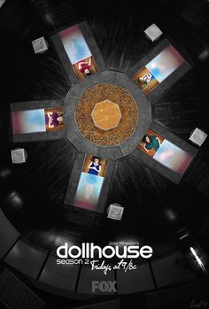 """Joss Whedon's Dollhouse poster by norb47 (LiveJournal)."" Nighty-night, dolls. Try to be your best."