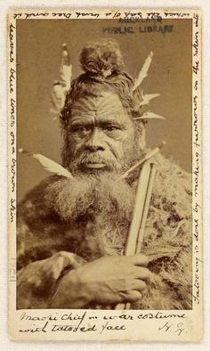 unknown maori chief  unknown photographer #maoritattoosmen