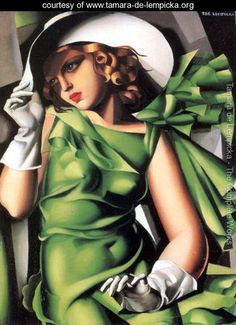 Young Lady with Gloves, 1930 - Tamara de Lempicka - www.tamara-de-lempicka.org