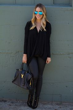All Black with gold details