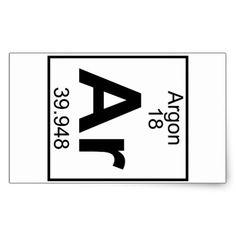 Element 018 - Ar - Argon (Full) Rectangular Sticker